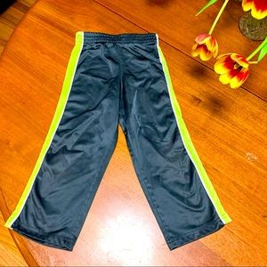 5/$15 HealthTex acid yellow gray track pants 4T